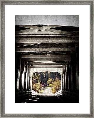 Grave Creek Covered Bridge Framed Print by Melanie Lankford Photography