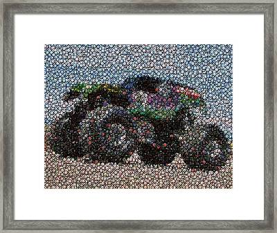 Grave Digger Bottle Cap Mosaic Framed Print by Paul Van Scott