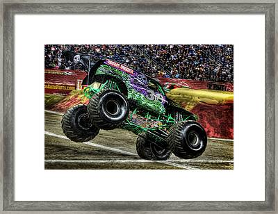Grave Digger Ford Field Detroit Mi Framed Print by A And N Art