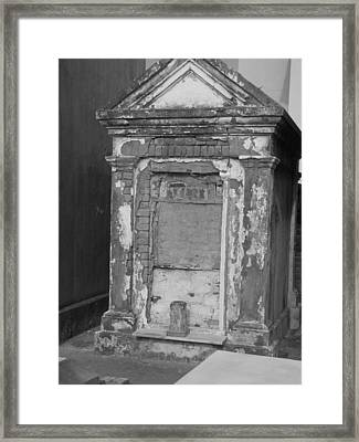 Framed Print featuring the photograph Grave I by Beth Vincent