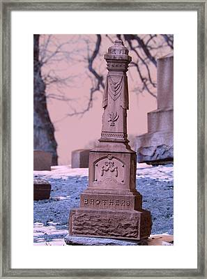 Grave Framed Print by Jon Baldwin  Art