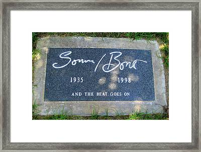 Grave Of Sonny Bono Framed Print