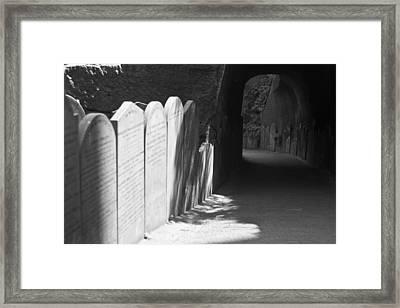 Grave Row Framed Print by Georgia Fowler