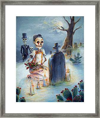 Grave Sight Framed Print by Heather Calderon