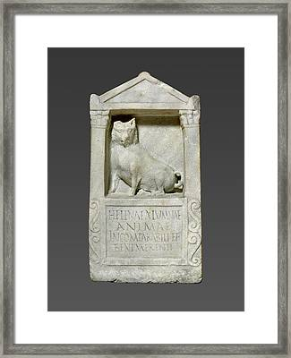 Grave Stele For Helena Unknown Rome, Italy Framed Print