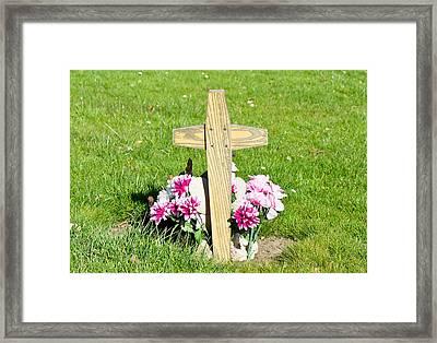 Grave Framed Print