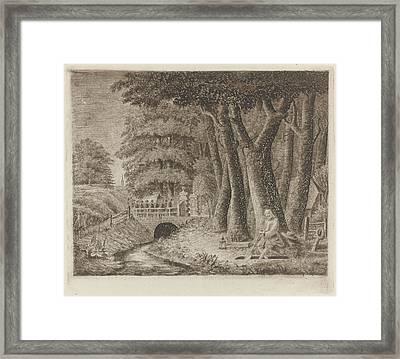 Gravedigger, Eberhard Cornelis Rahms, Tollens Framed Print by Eberhard Cornelis Rahms And Tollens