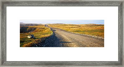 Gravel Road Passing Framed Print by Panoramic Images