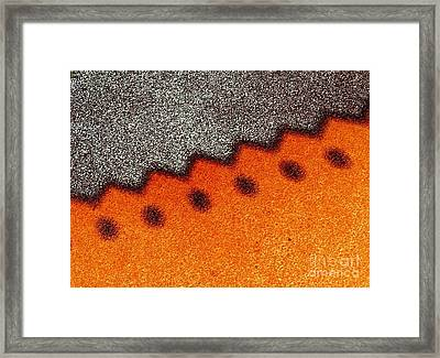 Gravel Shadow Framed Print