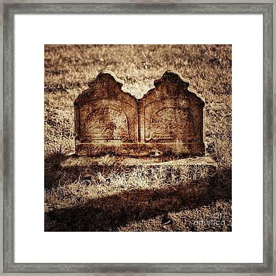 Graves Framed Print by HD Connelly
