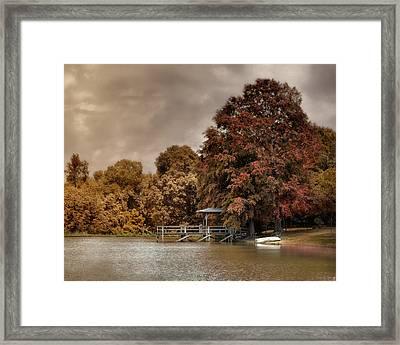 Graves Pond In Autumn Framed Print