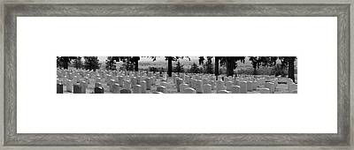 Gravestone At The Military Cemetery Framed Print by Panoramic Images