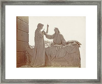 Gravestone By De Albertis In The Cemetery Of Staglieno Framed Print by Artokoloro