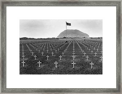 Graveyard At Iwo Jima Framed Print by Edward Steichen