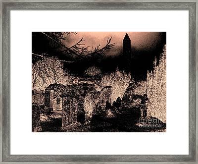 Graveyard At Night Framed Print by Tim Townsend