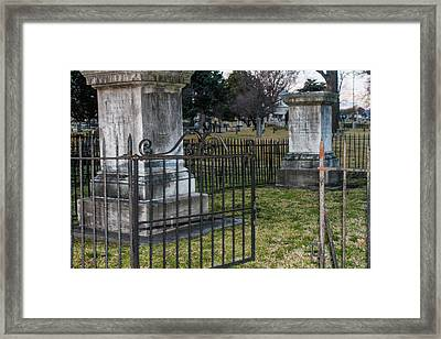 Graveyard In Graveyard Framed Print by Robert Hebert