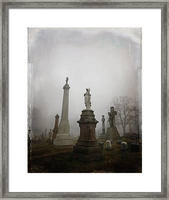 Graveyard Morning Framed Print