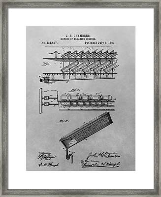 Graveyard Patent Framed Print by Dan Sproul