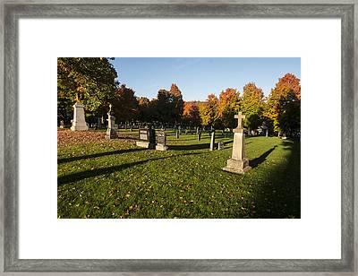 Graveyard Framed Print by Philippe Boite
