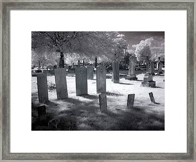 Graveyard Framed Print by Terry Reynoldson