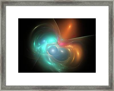 Gravitational Lensing Framed Print by Equinox Graphics