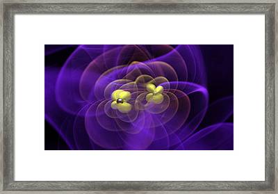 Gravitational Waves Emitted By Black Framed Print by Science Source