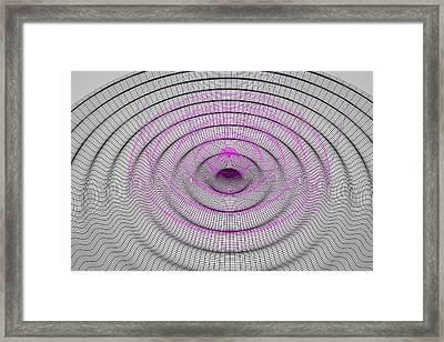 Gravitational Waves, Illustration Framed Print