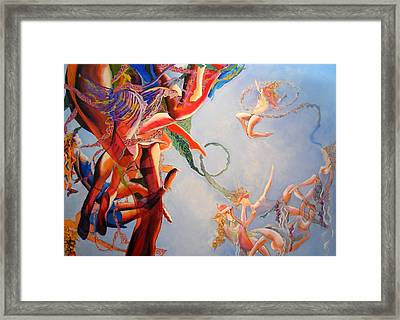 Framed Print featuring the painting Gravity by Georg Douglas