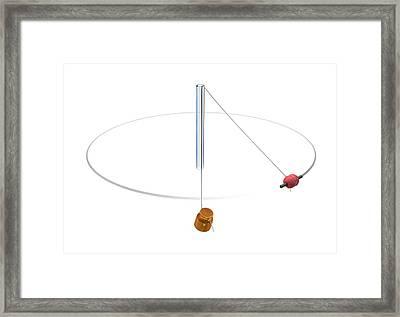 Gravity Vs Centripetal Force Framed Print