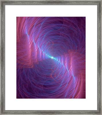 Gravity Waves Conceptual Illustration Framed Print