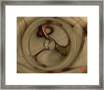 Gravity Wells Framed Print