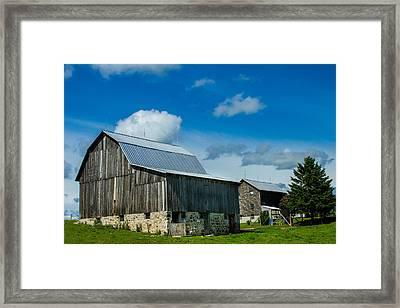 Gray Barn Framed Print