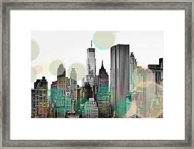Gray City Beams Framed Print by Susan Bryant