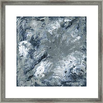 Gray Color Of Energy Framed Print by Ania Milo