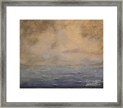 Gray Dawn Framed Print by Lori Jacobus-Crawford