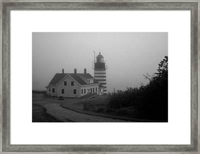 Gray Day In Maine Framed Print by Amanda Kiplinger