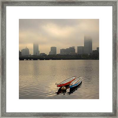 Gray Day On The Charles River Framed Print
