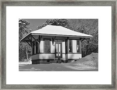 Gray Gables Train Station Framed Print by Catherine Reusch Daley