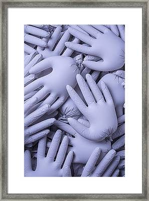Gray Hands Framed Print