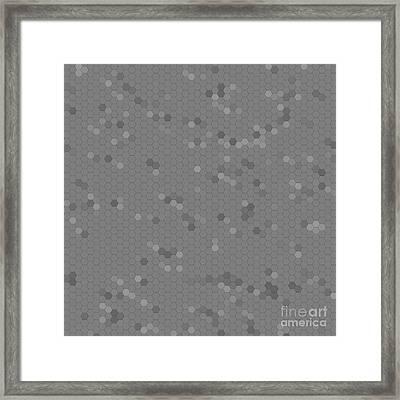 Gray Mosaic Framed Print by Henrik Lehnerer