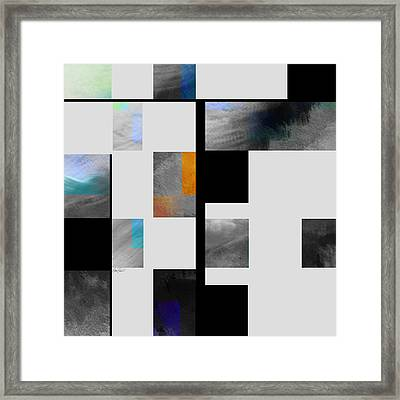 Gray Series Four Abstract Art Framed Print by Ann Powell