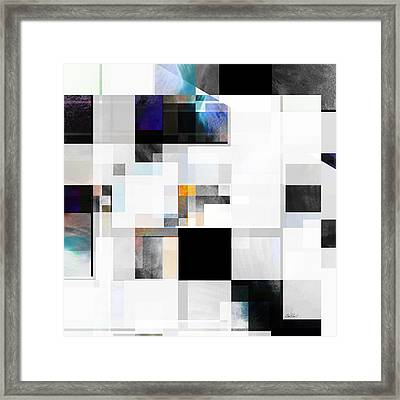 Gray Series One Abstract- Art Framed Print by Ann Powell