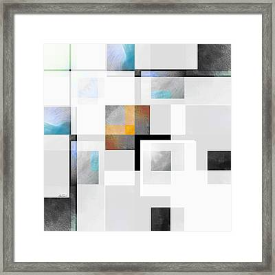Gray Series Three Abstract Art Framed Print by Ann Powell