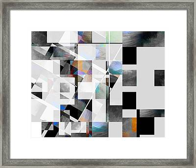 Gray Series Twelve - Abstract Art Framed Print by Ann Powell