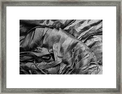 Gray Silk 01 Framed Print by Rick Piper Photography