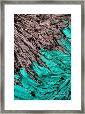 Gray Silk Blue Silk Framed Print by Rick Piper Photography