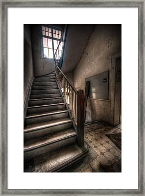Gray Steps Framed Print