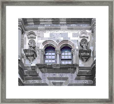 Gray Stones Framed Print