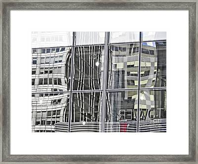 Gray Tower Reflections Framed Print
