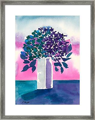 Framed Print featuring the painting Gray Vase by Frank Bright